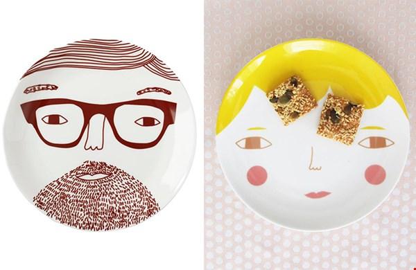 Humor op tafel, deze prachtige borden van Donna Wilson
