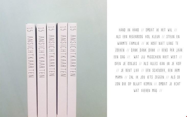 Boekje met vijftien uitscheurbare ansichtkaarten