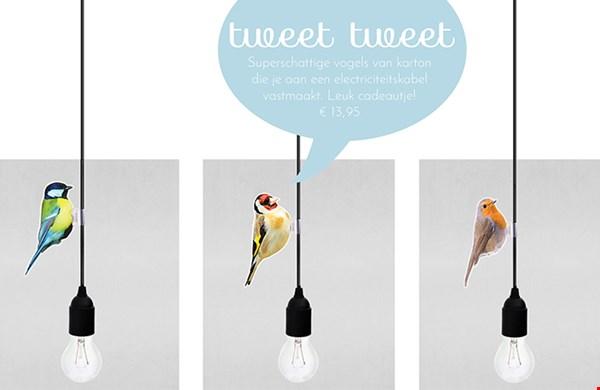 vogels aan je lamp!