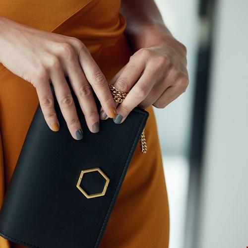 Sapphire cocktail tas in zwart