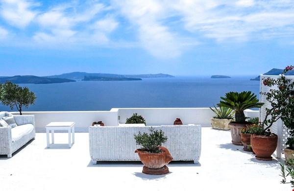 Wicker tuinmeubels in Griekenland