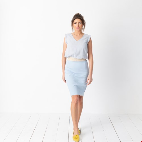 Top Ida Stripes, rok Elle Cloudy