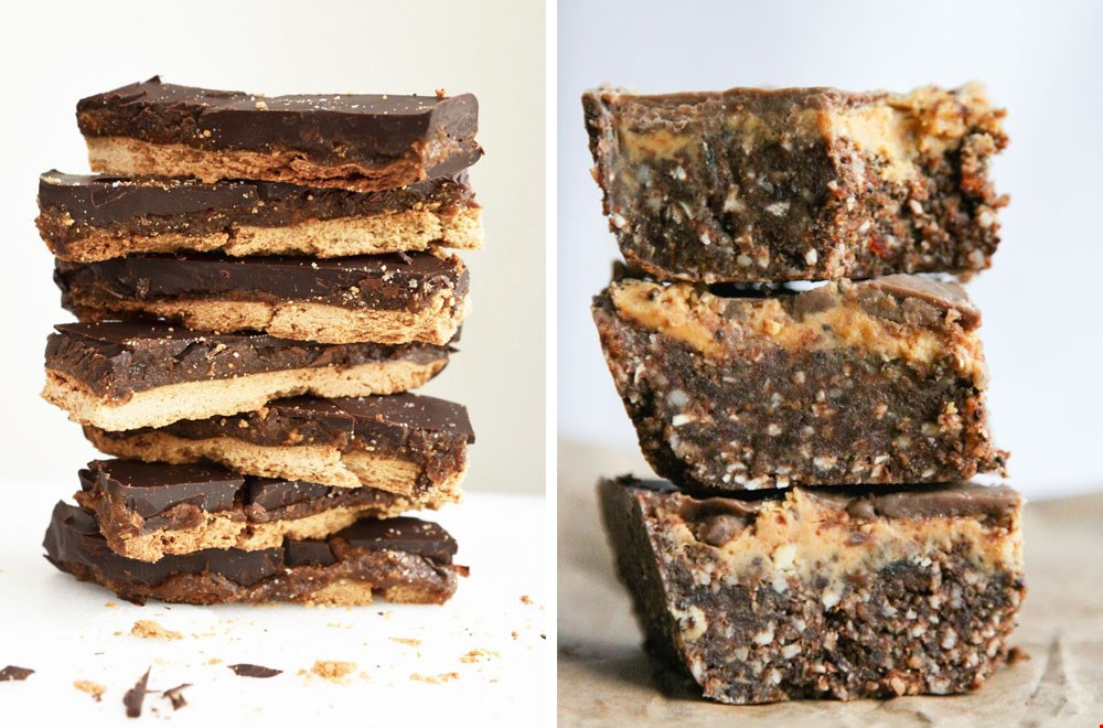 Homemade Twix en Peanutbutter Fudge Brownies @ Thisrawsomeveganlife