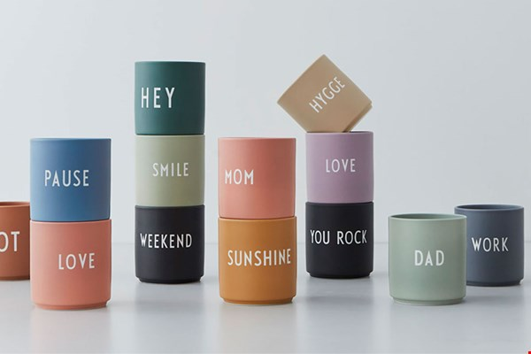 tykky design letters cups bekers flavourites