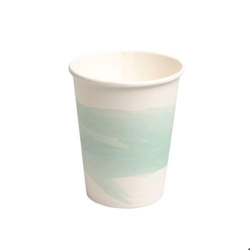 Beker papier, water, groen, 10 stuks