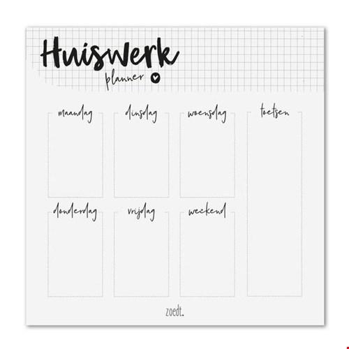 Zoedt Huiswerkplanner