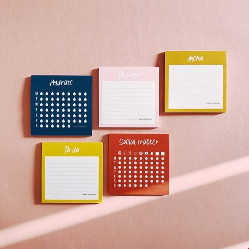 Studio Stationery Mini Social tracker