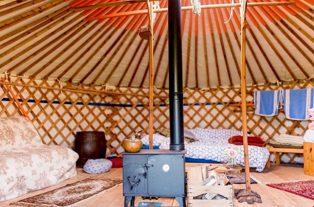 Een yurt als vakantiehuisje