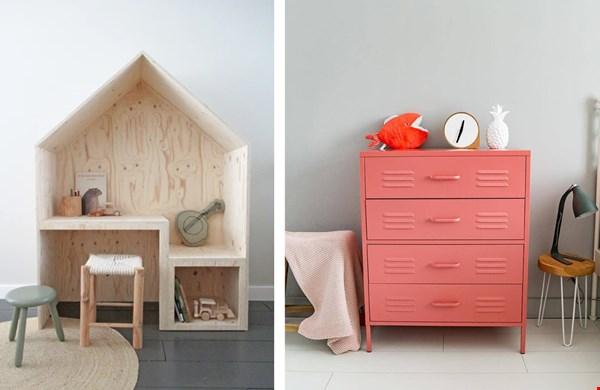 foto links: speelhuis van Huisengrietje.nl, foto rechts: lockerkast van Maximavida.nl