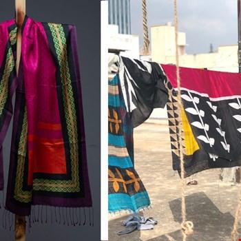 WIN een handgemaakte zijden sjaal t.w.v. €115,- van Urban Medley!
