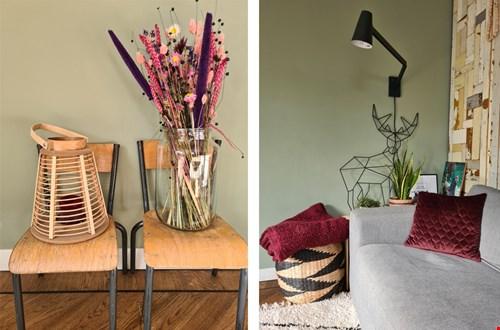 Warme herfstkleuren in de woonkamer