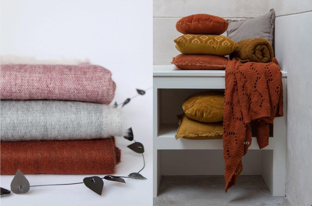 Comfy & warm! Links: Bufandy @lichtenfijnconceptstore, rechts Bepurehome @wonenmetlef