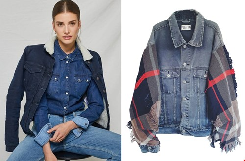 Links: Kuyichi warm jeans jacket, rechts: upcycled denim Jacket @sixandsons