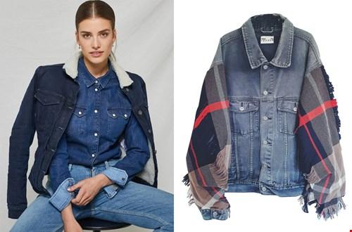 Links: Kuyichi warm jeans jacket, rechts: upcycled denim Jacket @sixandsons