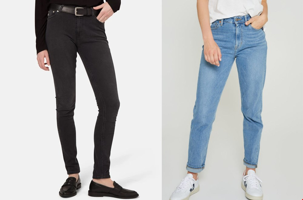 Links: Mud jeans @driftwoodtales, rechts: Kuyichi mom jeans @Dithabonita