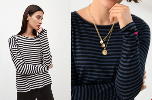 Links: Armed Angels @takeitslowstore, rechts l'agence @pleinpublique