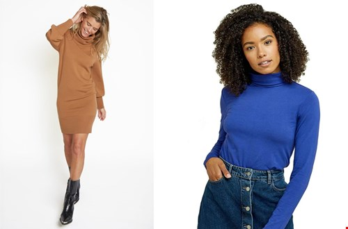 Links: turtleneck dress @elementsoffreedom, rechts: People tree @sophiestone