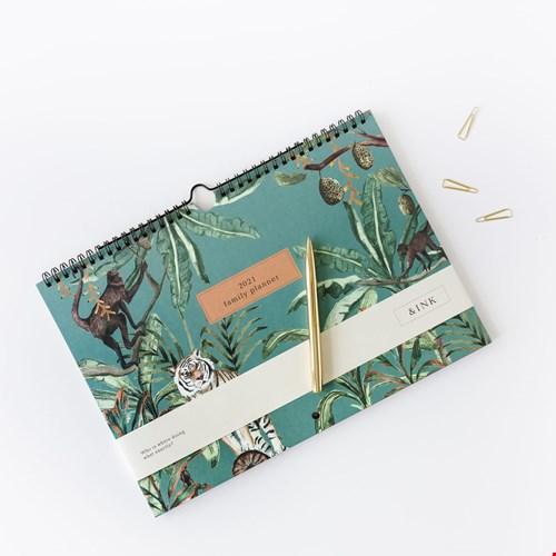 &Ink Familieplanner jungle groen