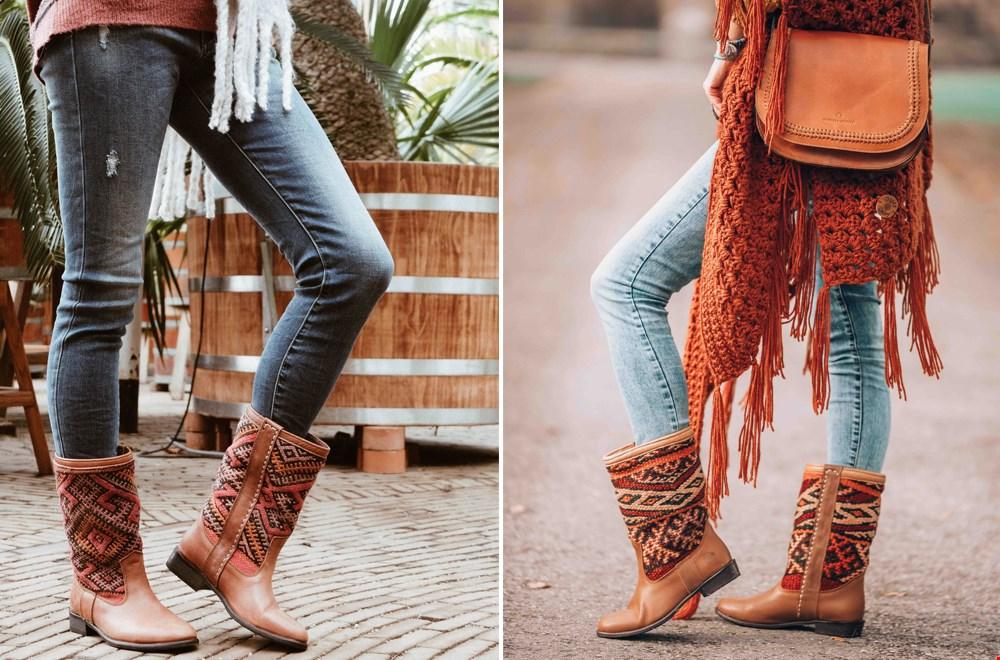 Zo tof, deze kelim boots van The Kindreds!