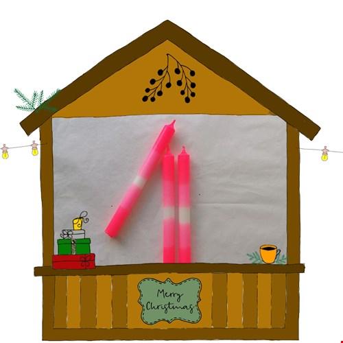 Fraugold - flamingo kaarsen