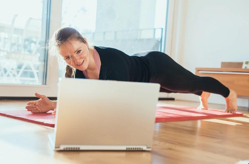 Zo planken wij dus ook, met Fit Channel op de laptop