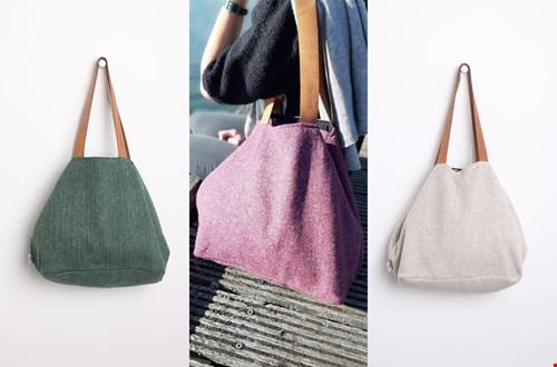 De prachtige handgemaakte wollen tassen van Emma Martin