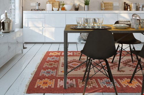 Te gek tapijt, gratis bij een paar laarzen! Of kies voor een toffe tas.
