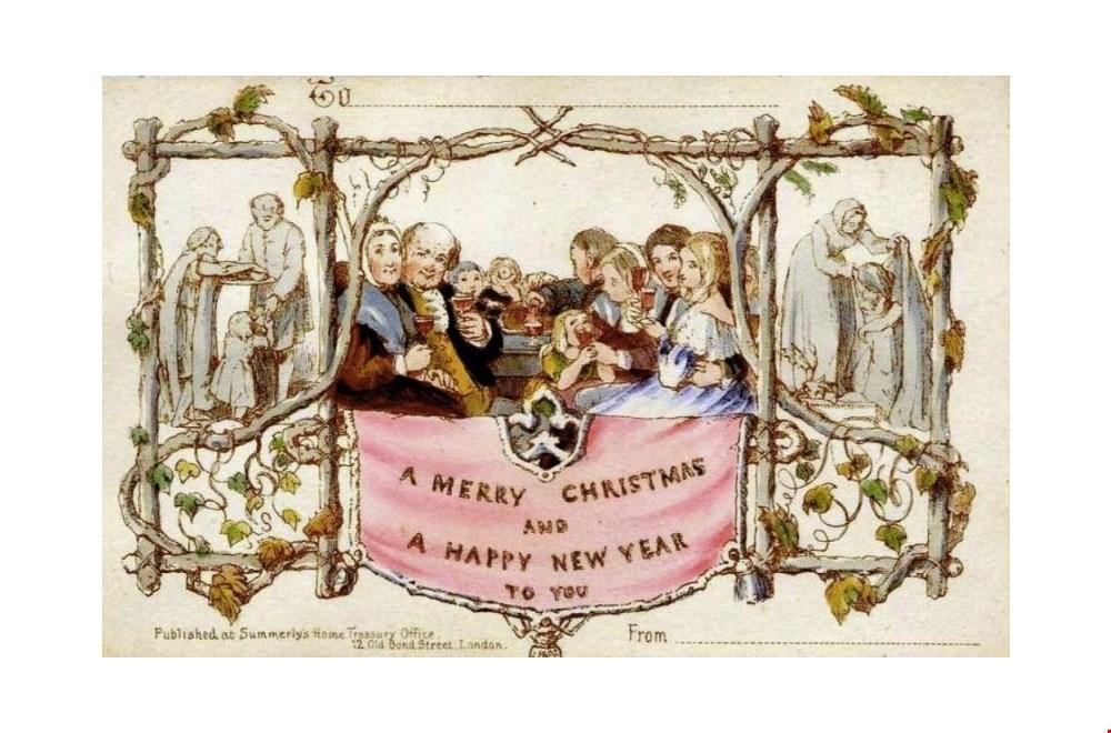 De allereerste kerstkaart uit 1843