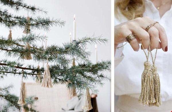 Stijlvolle en minimalistische kerstboom decoratie