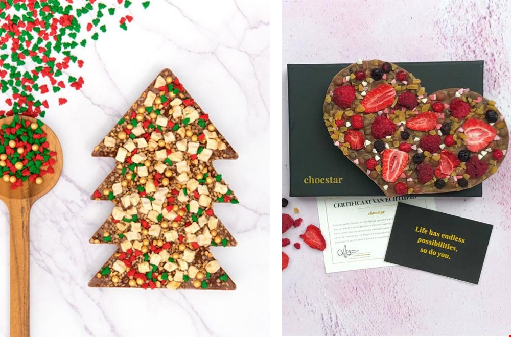 Kerst chocolade @chocstar