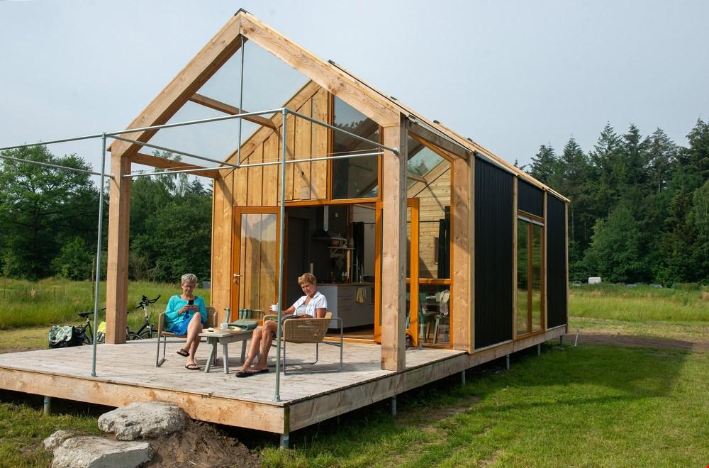 Eén met de natuur in dit duurzame tiny house