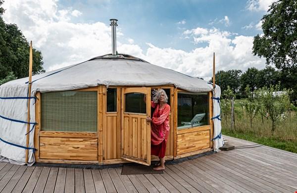 Leuk: slapen in een yurt!