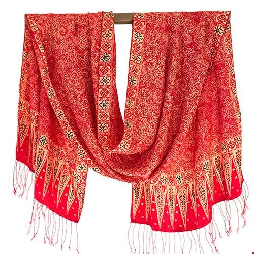 Handgeweven zijden sjaal uit Bali