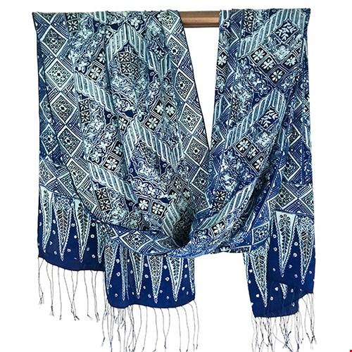 Sjaal van zijde uit Bali