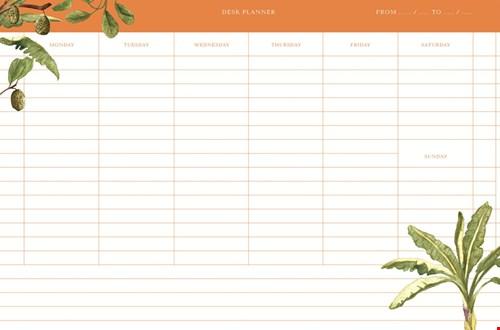 Deskplanner in A4 formaat