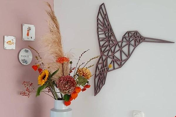 Geometrische wanddecoratie