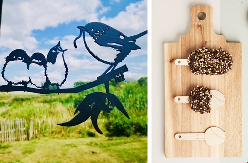 Metalen vogels van Metalbird en Desserts for birds