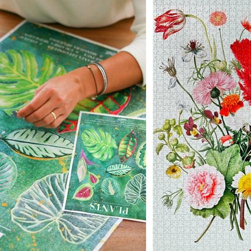 bloemen- en plantenpuzzel van bloompost