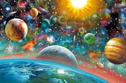 ruimte en planeten puzzel outerspace
