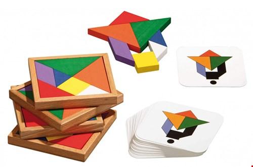 speed tangram puzzel en spel in een