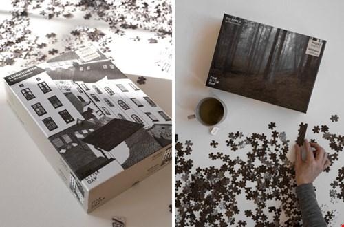 scandinavische zwart wit puzzel