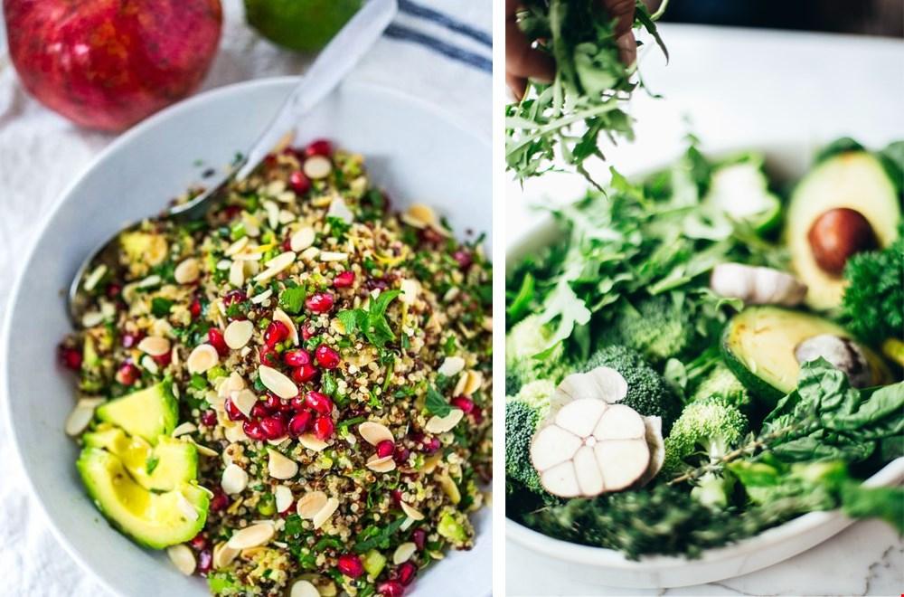 de lekkerste vegan maaltijdsalades. Foto links: feastingathome.com