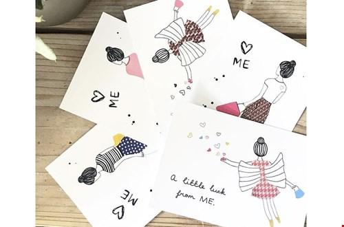 Ook om blij van te worden: een met zorg uitgekozen en handgeschreven kaartje