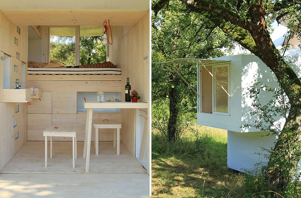 Een tiny house dat uit twee verdiepingen bestaat: geweldig