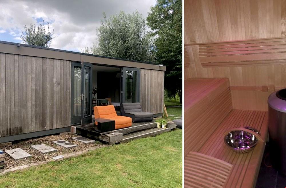 Met eigen sauna