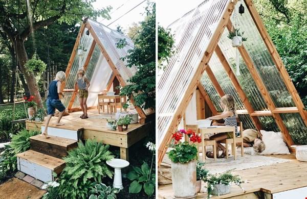 Hoe gaaf is deze boomhut! Foto: bevcooks.com