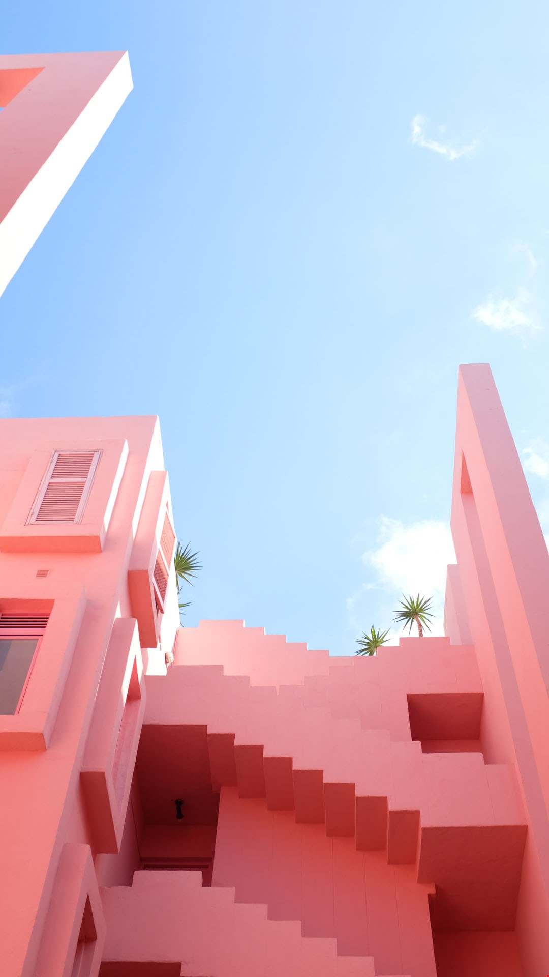 Wallpaper pink houses