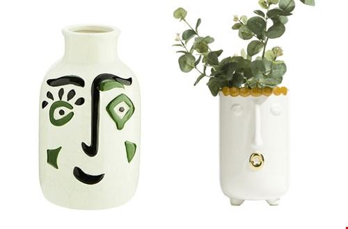 Vazen met gezichten