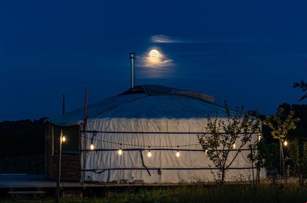 In een yurt
