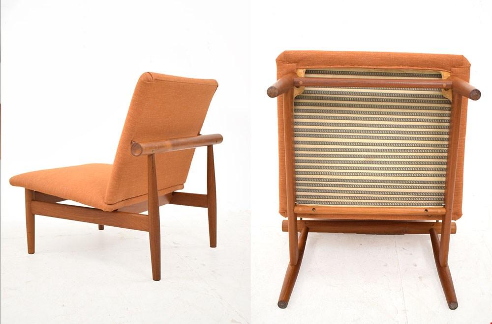 Bron: danish-homestore.com. Vintage teak Japan chair ontworpen door Finn Juhl, 1953